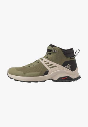 X RAISE MID GTX - Hiking shoes - olive night/black/vintage kaki