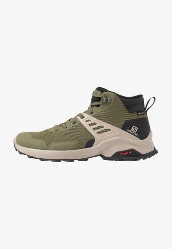 X RAISE MID GTX - Hiking shoes - olive night/black/vintage kaki