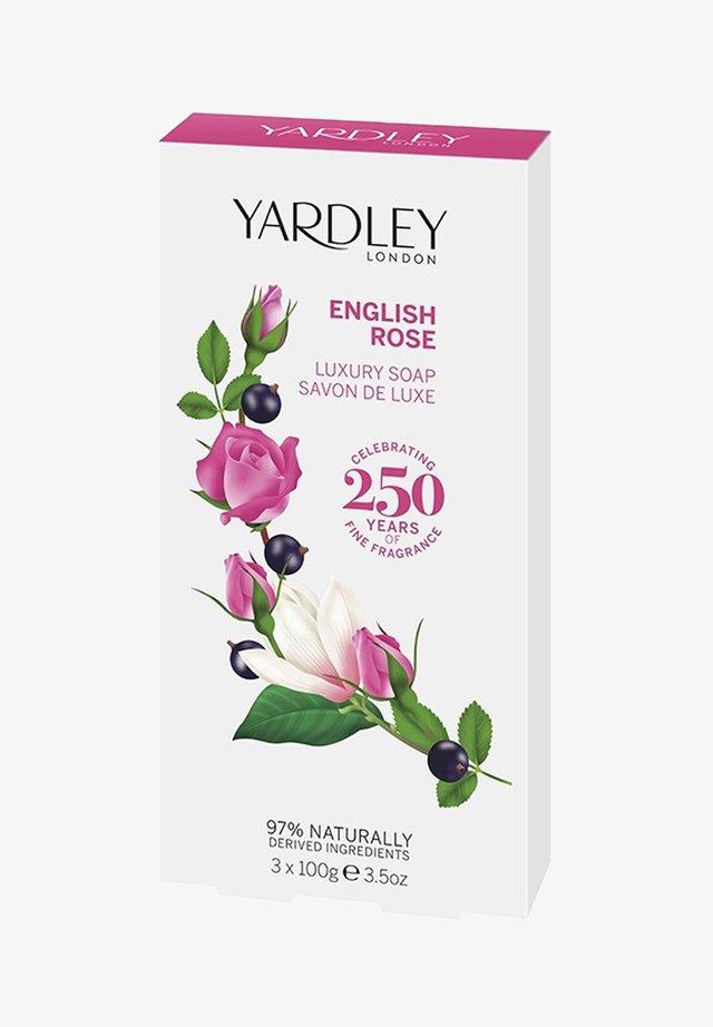 LUXUS SEIFE ENGLISCH ROSE 3X100 G - Soap bar - rosa