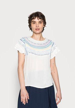 BIMATERIA BORDADO - Marškinėliai su spaudiniu - ivory