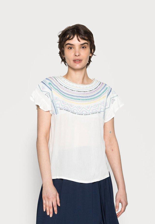 BIMATERIA BORDADO - T-shirt print - ivory