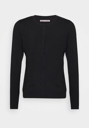 BASIC- crew neck cardigan - Cardigan - black