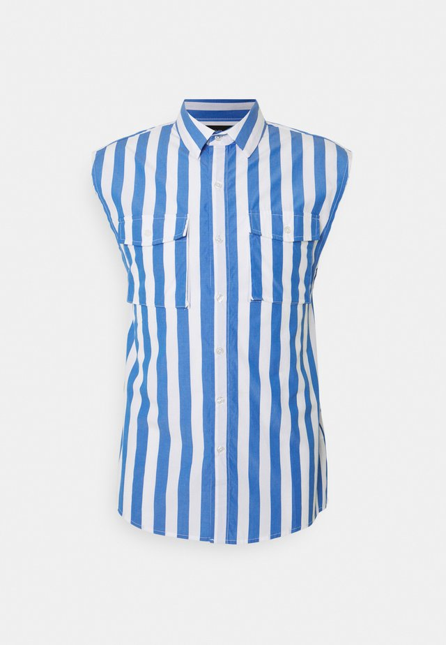 STRIPE RAW FINISH - Shirt - blue