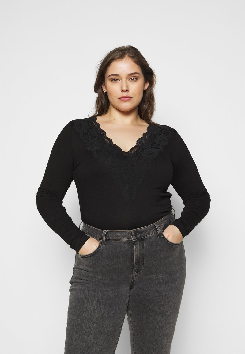 Kaffe Curve - LIMA - Long sleeved top - black deep