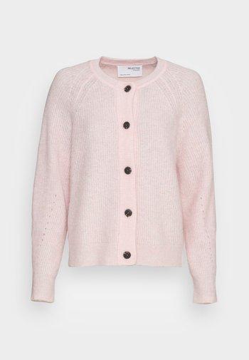 SLFLULU SHORT CARDIGAN  - Neuletakki - chalk pink