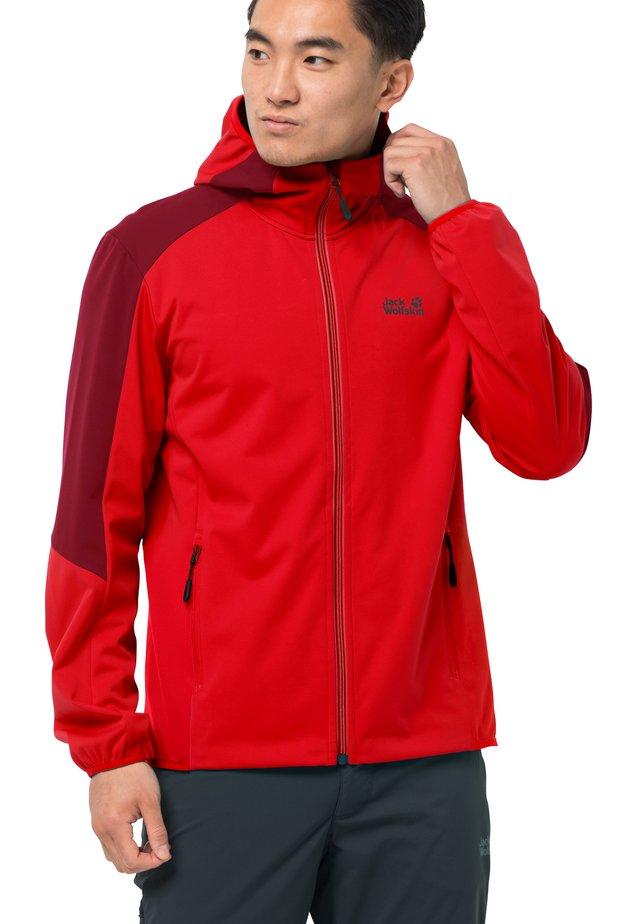 GO HIKE  - Soft shell jacket - fiery red