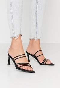 NA-KD - STRAPPY POINTY  - Heeled mules - black - 0