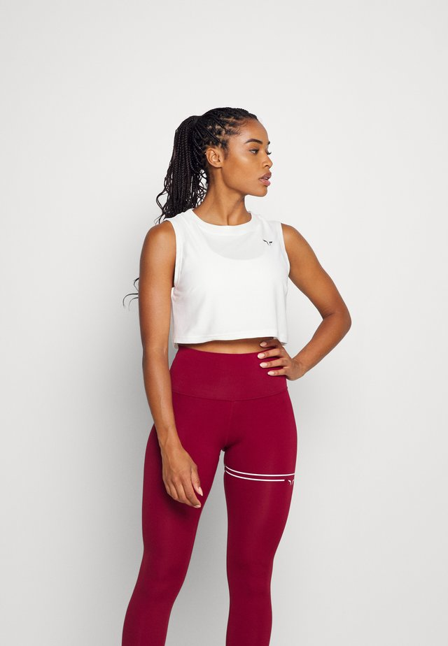 LIMITLESS CROP  - Top - pearl white