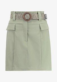 River Island - BETRIE BELTED - A-line skirt - khaki - 3