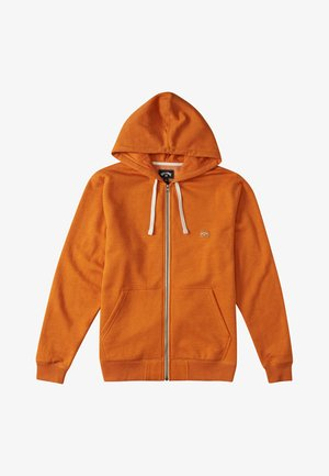 ALL DAY - Zip-up sweatshirt - dusty orange