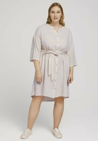 MY TRUE ME TOM TAILOR - STYLE WITH - Shirt dress - ecru shades vichy - 0