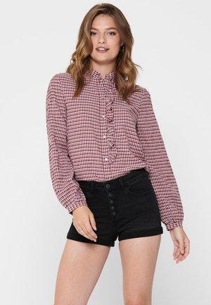 HEMD KARIERTES - Button-down blouse - pomegranate