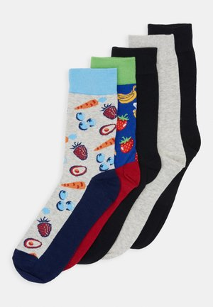 JACBANANA SOCK 5 PACK - Calze - surf the web/black/navy