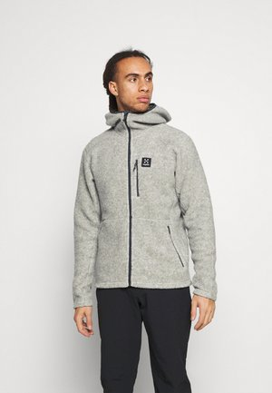 HOOD MEN - Fleece jacket - grey melange