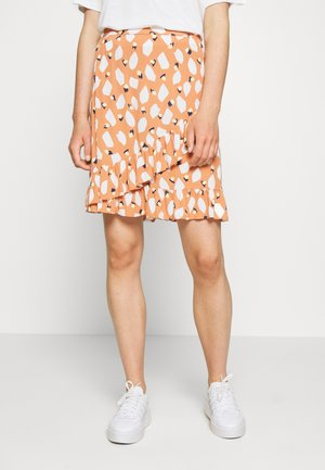 PCLAIA SKIRT - A-line skirt - sunburn/white