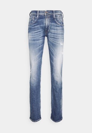 ANBASS AGED ECO - Slim fit -farkut - medium blue