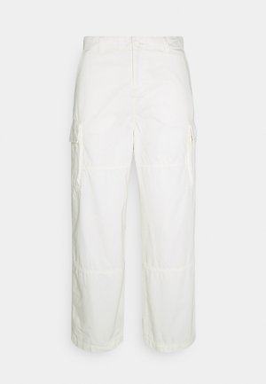 ABDI WIDE TROUSERS - Pantalones cargo - white