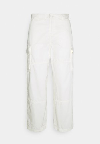 ABDI WIDE TROUSERS - Cargo trousers - white