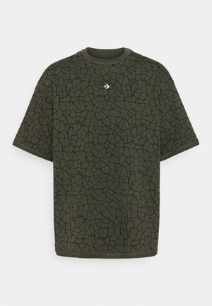 CROSSOVER PRINT TEE UNISEX - Print T-shirt - khaki