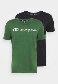 Champion - 2PACK CREW NECK - T-shirt print - grey - 5