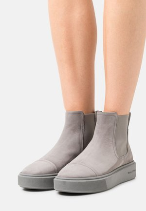 CORA - Platform ankle boots - grey