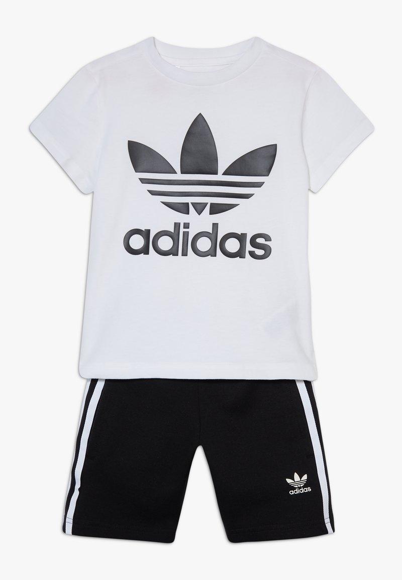 adidas Originals - TREFOIL SHORTS TEE SET - Kraťasy - black/white