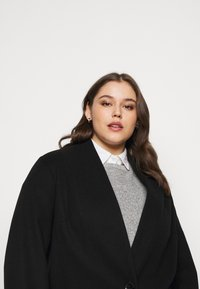 Dorothy Perkins Curve - COLLARLESS UNLINED - Classic coat - black - 3