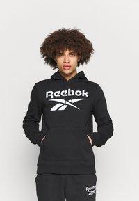 Reebok - HOODIE - Sweatshirt - black/white - 0