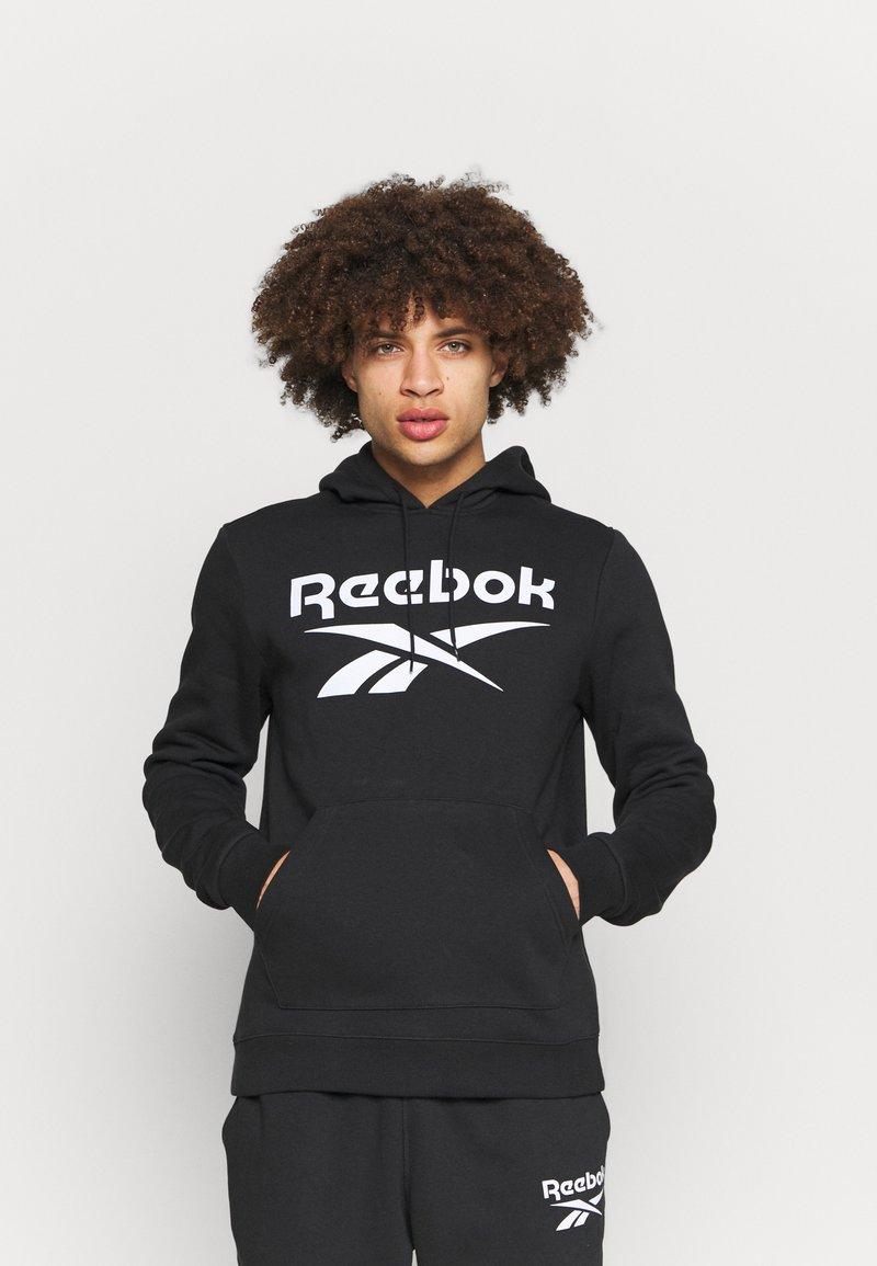 Reebok - HOODIE - Sweatshirt - black/white