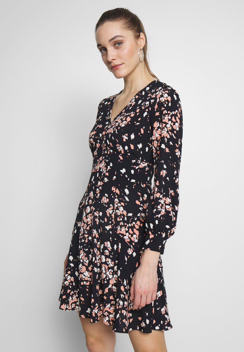 Whistles - MOTTLED ANIMAL BUTTON FRONT DRESS - Day dress - pink/multi