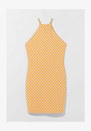 JACQUARD - Robe fourreau - orange