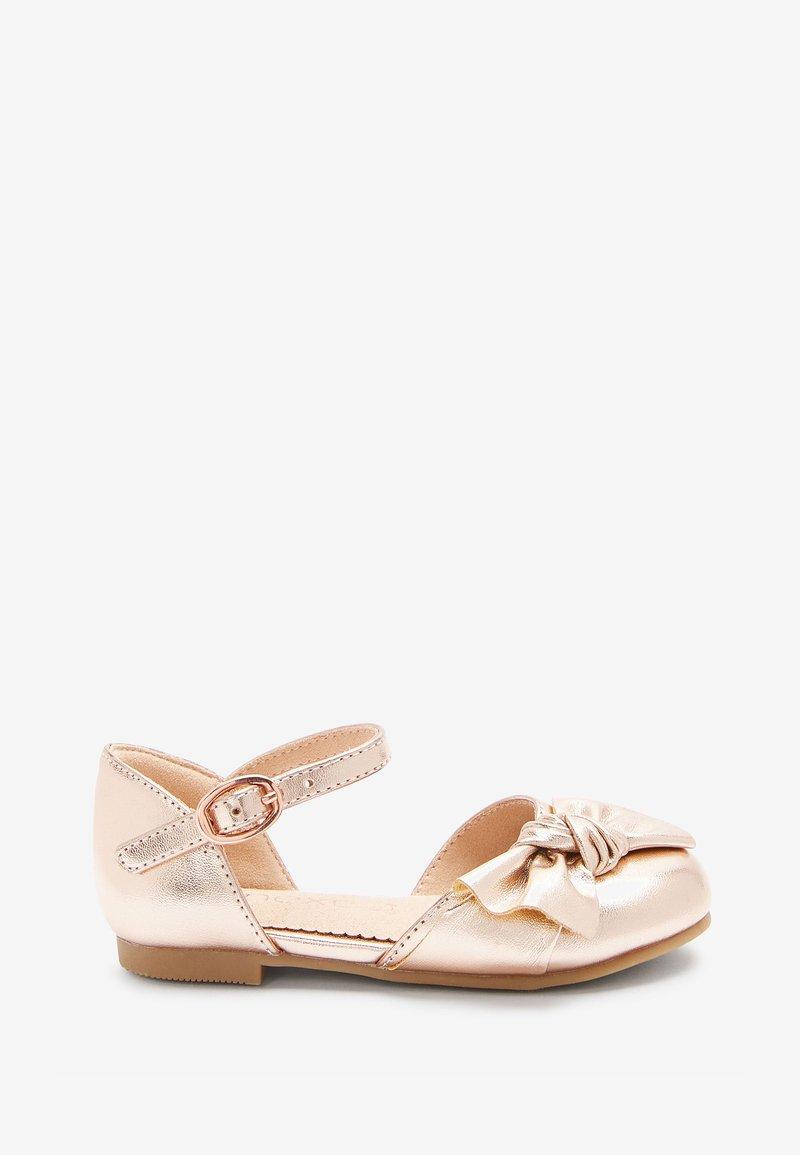 Next - Ankle strap ballet pumps - rose gold-coloured