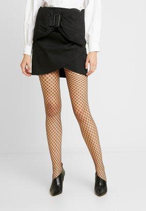 BOW SKIRT - Mini skirt - black
