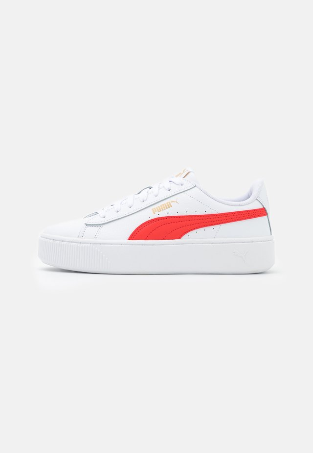 VIKKY STACKED - Sneakers basse - white/poppy red/team gold