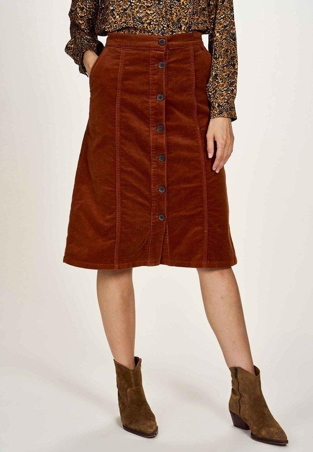 A-line skirt - danish brown