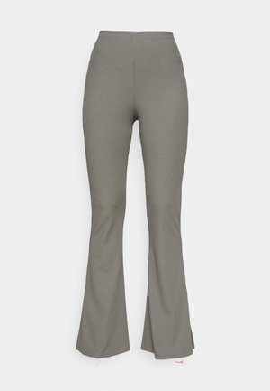 SPLIT HEM FLARE - Trousers - dark grey