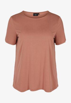 T-shirt basic - cognac