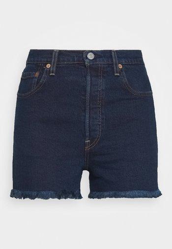 RIBCAGE - Denim shorts - charleston blue black