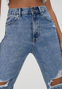 PULL&BEAR - MOM - Jeans baggy - light blue - 3