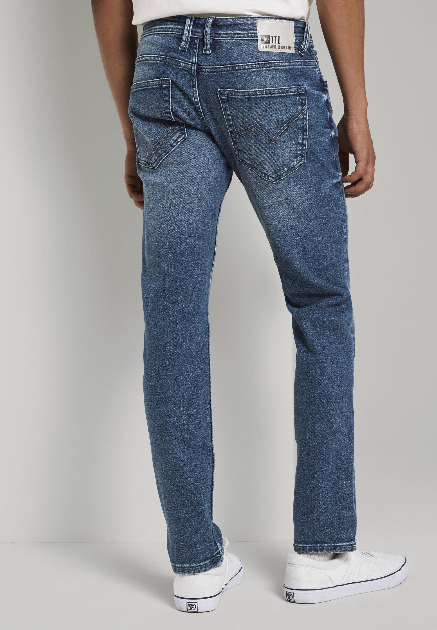 Tom Tailor Denim Piers - Jeans Slim Fit Used Light Stone Blue