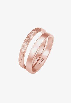 2ER SET - Ring - roségold