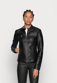ONLY - ONLBANDIT BIKER - Faux leather jacket - black - 0