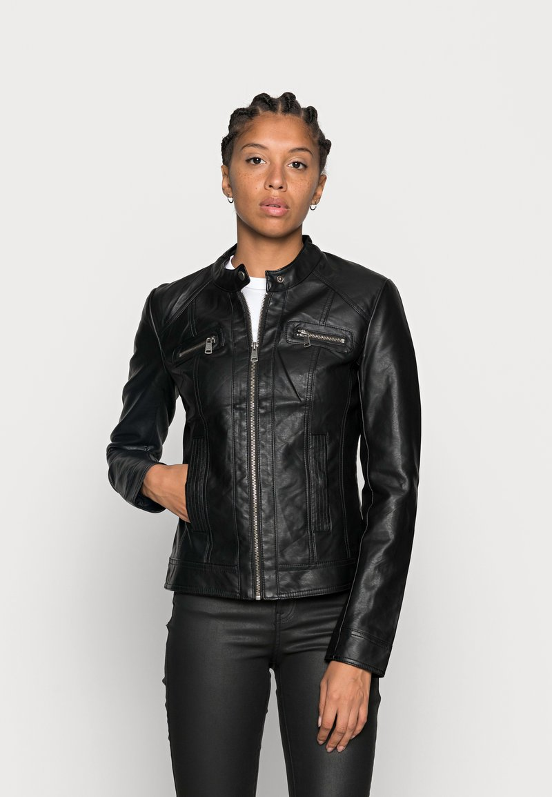 ONLY - ONLBANDIT BIKER - Faux leather jacket - black