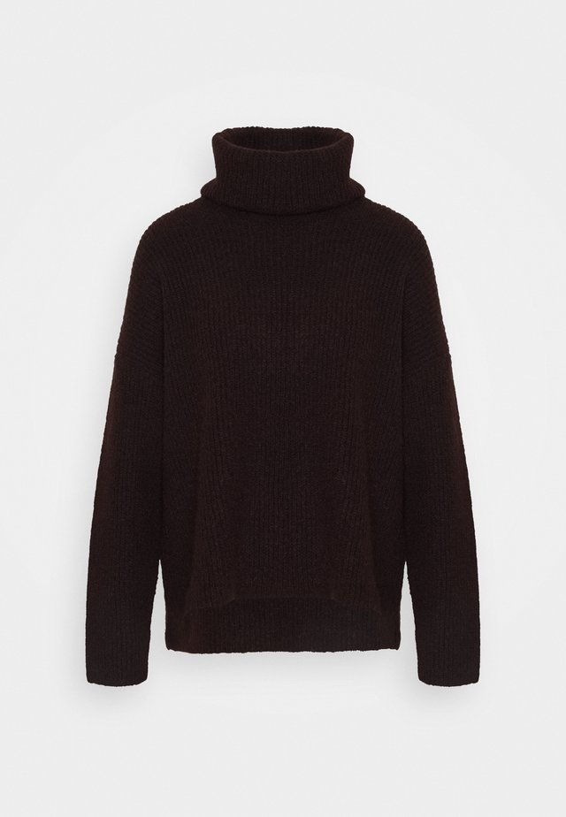 VMDAISY COWLNECK - Jumper - chocolate plum