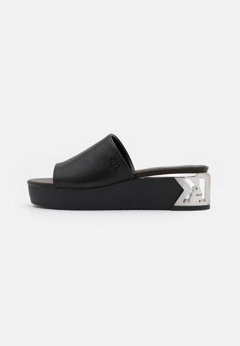 K-BLOK WEDGE MULE  - Heeled mules - black