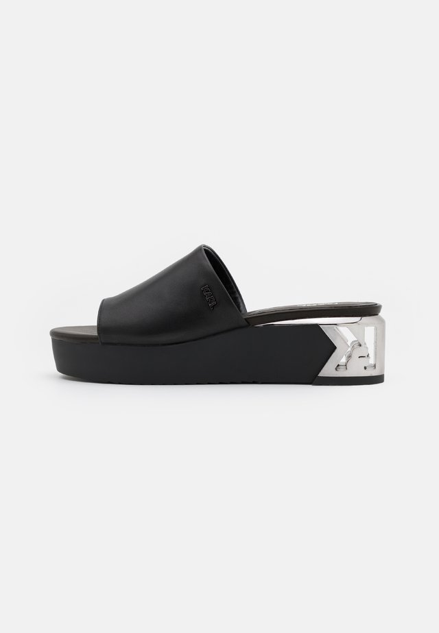 K-BLOK WEDGE MULE  - Pantofle na podpatku - black