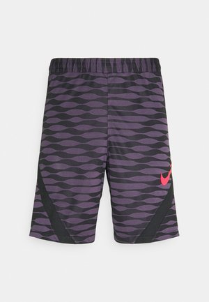 SHORT - Sports shorts - black/dark raisin/siren red