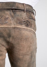 Spieth & Wensky - NERCEL - Leather trousers - brown - 5