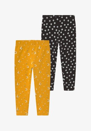 KIDS 2 PACK - Leggings - dotter/schwarz