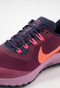 Nike Performance - AIR ZOOM PEGASUS 36 TRAIL - Trail running shoes - villain red/total crimson/blackened blue/frosted plum/mulberry rose/digital pink - 5